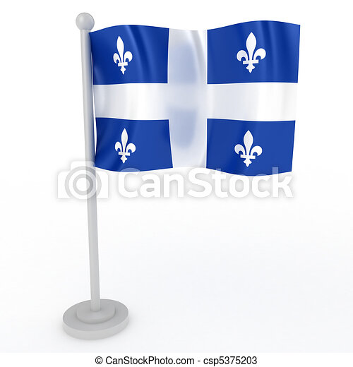 Flag of Quebec - csp5375203