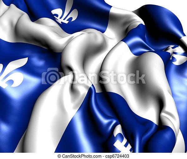 Flag of Quebec - csp6724403