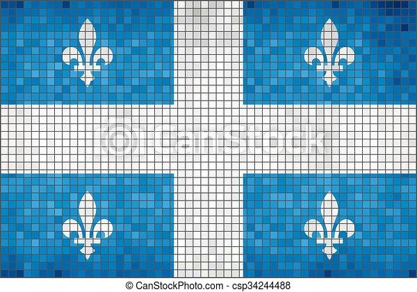 Flag of Quebec - csp34244488