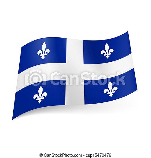 Flag of Quebec. - csp15470476