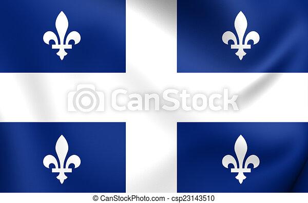 Flag of Quebec Province - csp23143510