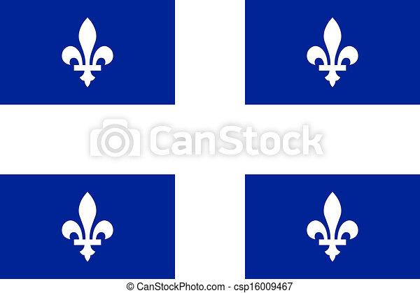 Flag of Quebec  - csp16009467