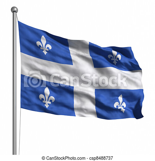 Flag of Quebec - csp8488737
