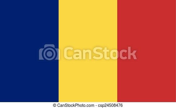 Flag of Romania - csp24508476