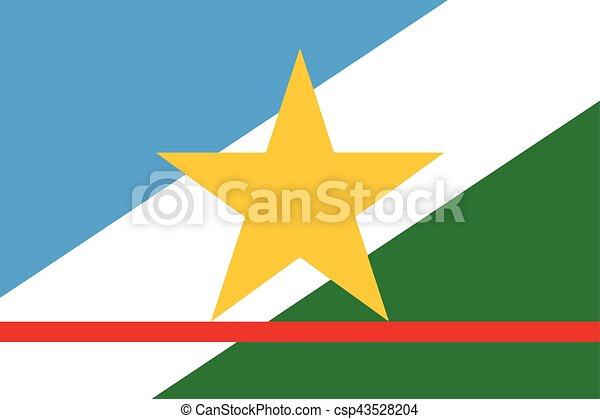 Flag of Roraima State, Brazil. Vector Format - csp43528204