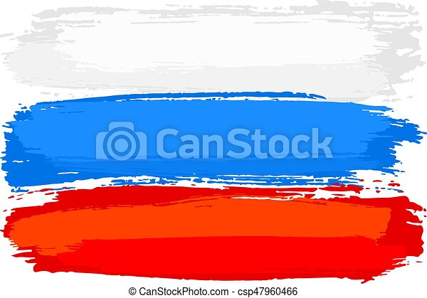 vector illustration of a flag of russia painted with brush clip rh canstockphoto com brush stroke clipart free brushstroke cross clipart