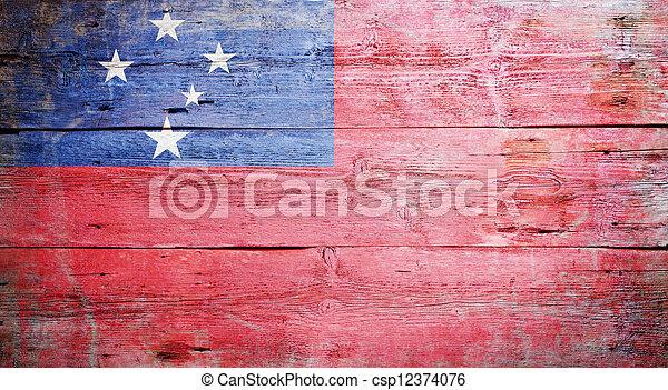 Flag of Samoa - csp12374076