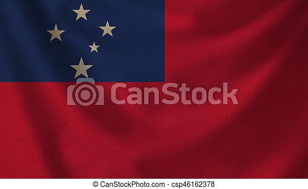 Flag of Samoa. - csp46162378