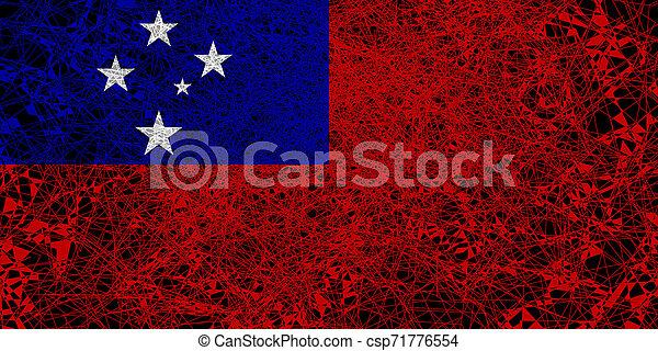 Flag of Samoa. - csp71776554