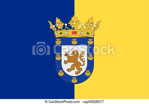 Flag of Santiago, Chile. Vector Format - csp43528317