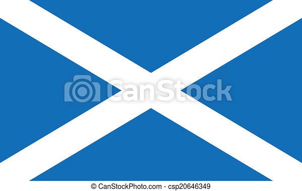 Flag of Scotland - csp20646349