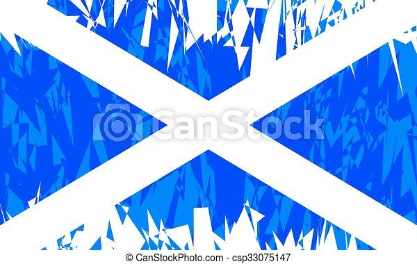 Flag of Scotland. - csp33075147