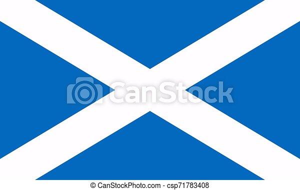 Flag of Scotland. Vector illustration. World flag - csp71783408