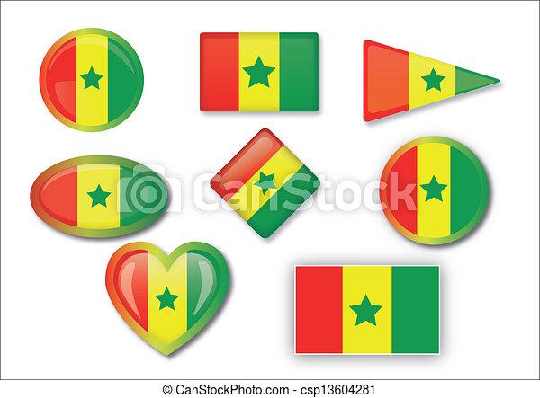 flag of Senegal - csp13604281