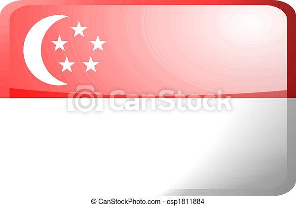 Flag of Singapore button - csp1811884