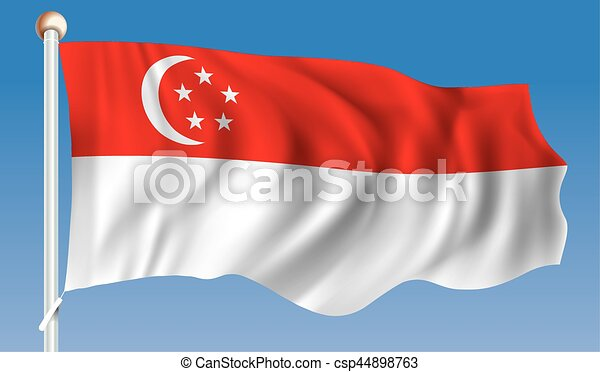 Flag of Singapore - csp44898763