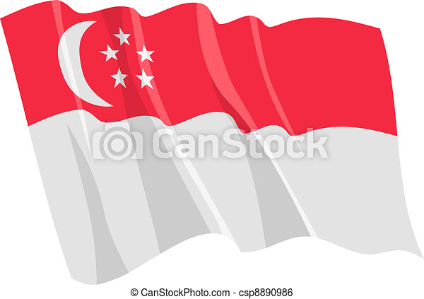 flag of Singapore - csp8890986