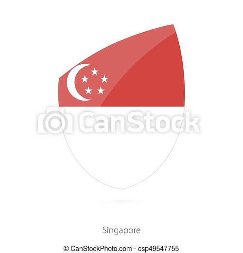 Flag of Singapore. - csp49547755