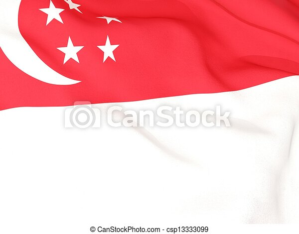 Flag of singapore - csp13333099