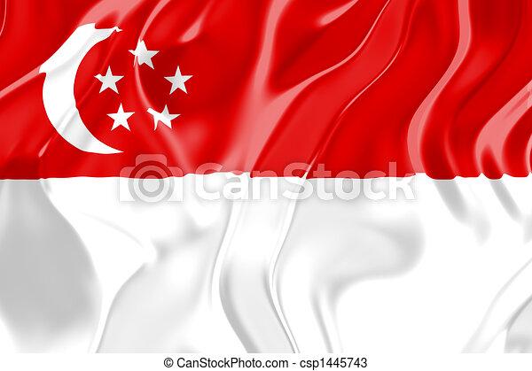 Flag of Singapore - csp1445743