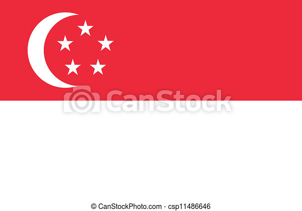 Flag of Singapore - csp11486646