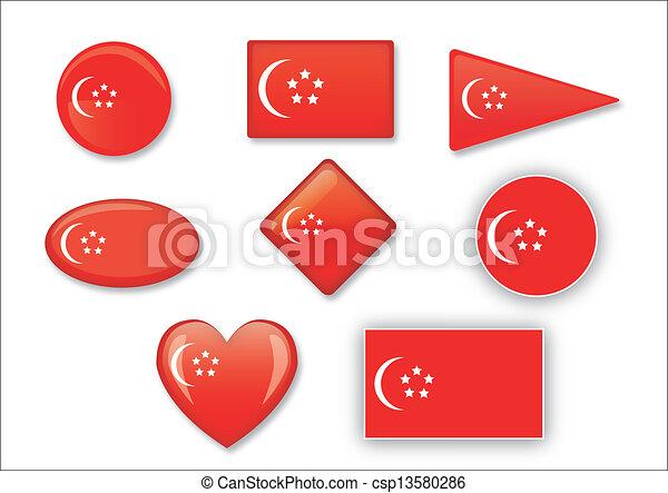 flag of Singapore - csp13580286