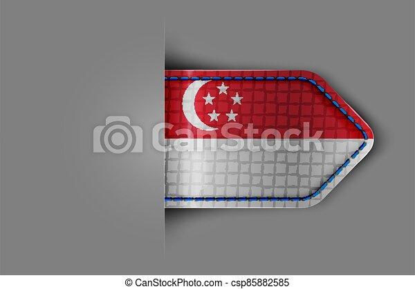 Flag of Singapore - csp85882585