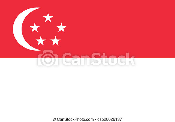 Flag of Singapore - csp20626137