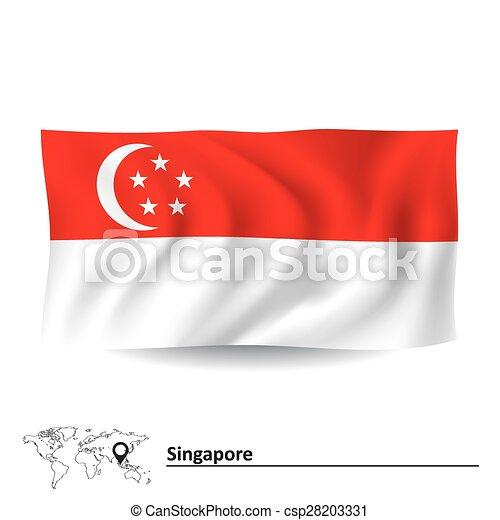 Flag of Singapore - csp28203331