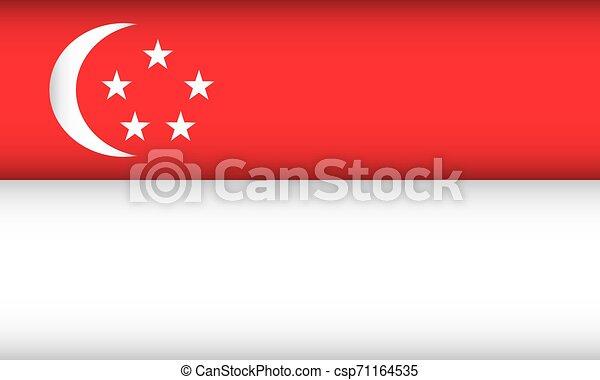 Flag of Singapore. - csp71164535