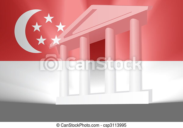 Flag of Singapore government - csp3113995