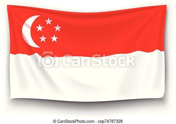 flag of singapore - csp74787328