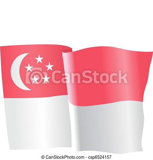 flag of Singapore - csp6524157