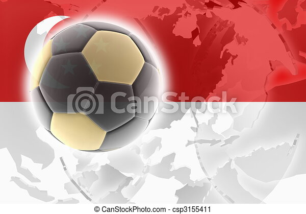 Flag of Singapore soccer - csp3155411