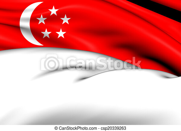 Flag of Singapore - csp20339263