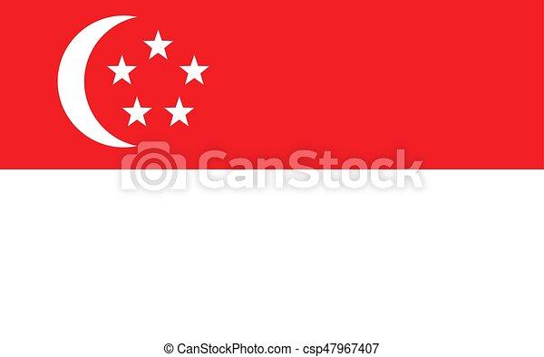 Flag of Singapore - csp47967407