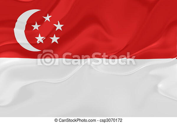 Flag of Singapore wavy - csp3070172