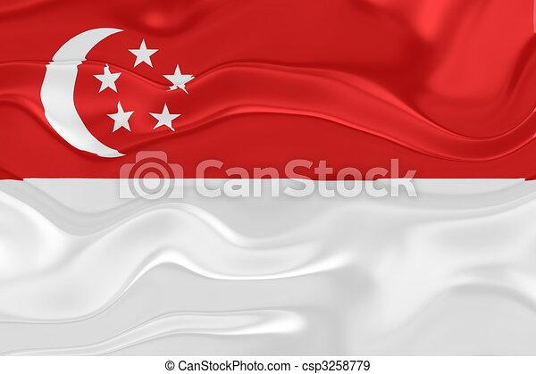 Flag of Singapore wavy - csp3258779