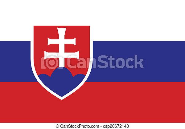 Flag of Slovakia - csp20672140