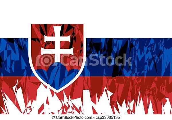Flag of Slovakia. - csp33085135