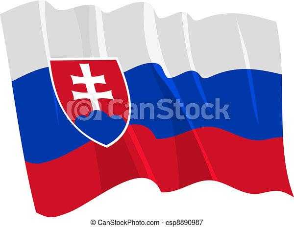 flag of Slovakia - csp8890987