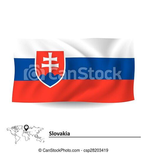 Flag of Slovakia - csp28203419