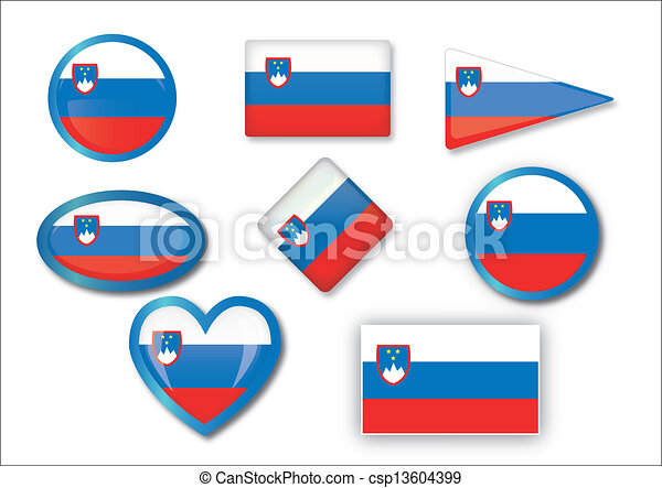 flag of Slovenia - csp13604399