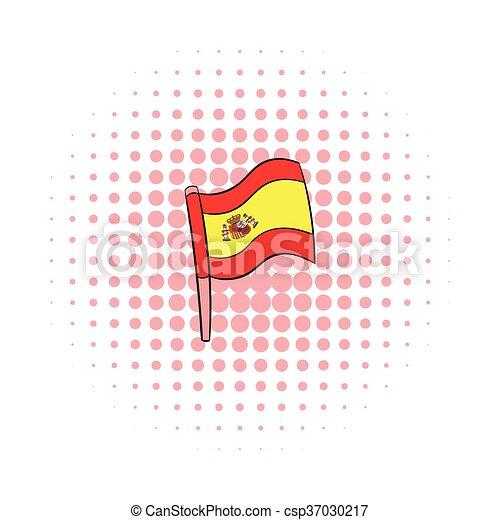 Flag of Spain icon, comics style - csp37030217