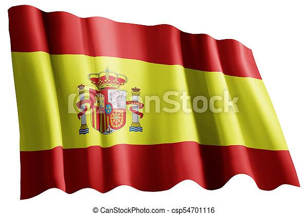 Flag of spain - csp54701116