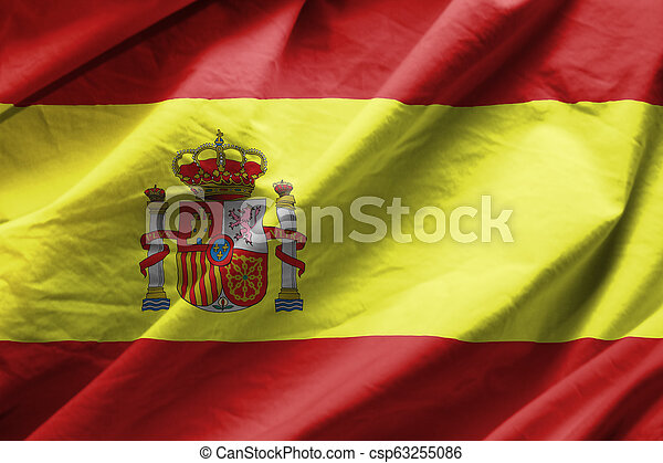 Flag of spain - csp63255086
