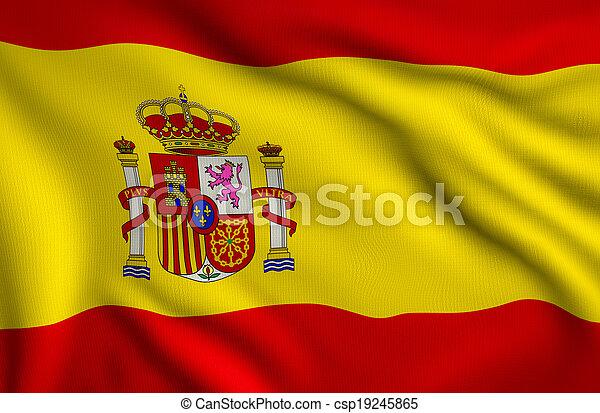 Flag of Spain - csp19245865
