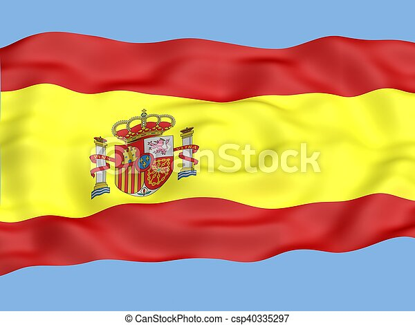 Flag of spain - csp40335297