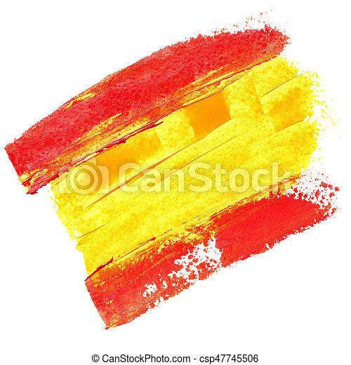 Flag of Spain - csp47745506