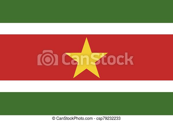 Flag of Suriname vector illustration - csp79232233